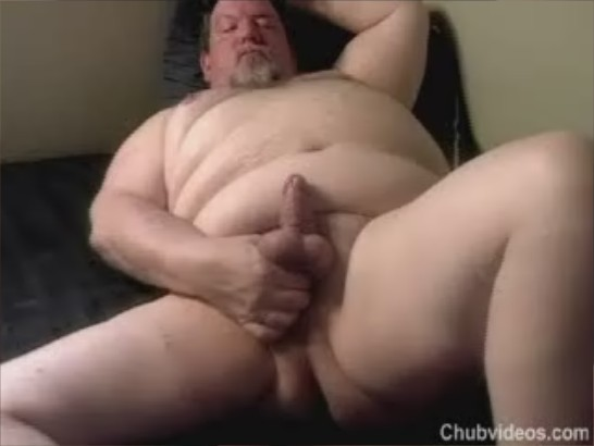 Chubby Daddy Video A Hot Chubby Daddy Jerks Off And Shoot A Big Thick Load ...